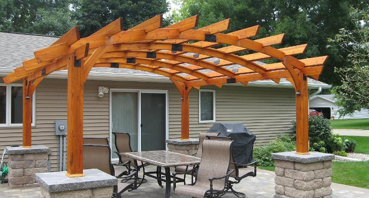 img - 18+ Wooden Pergola Designs, Ideas Design Trends - Premium PSD