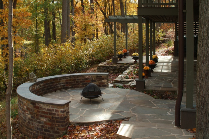 unique look brick patio design