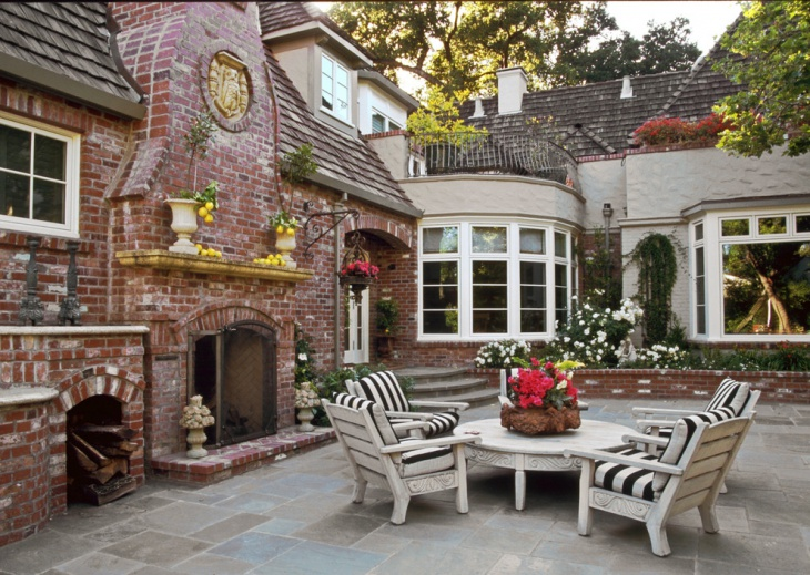 rose brick patio ideas