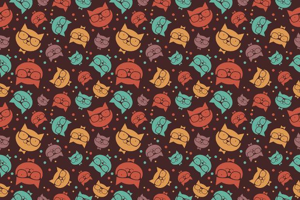 High Resolution Cats Pattern