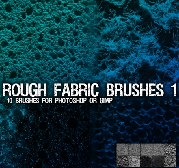 rough fabric photoshop brushes