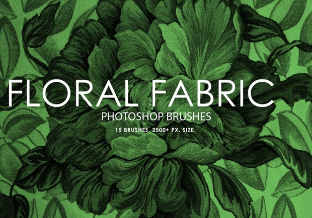 floral fabric photoshop brushes1