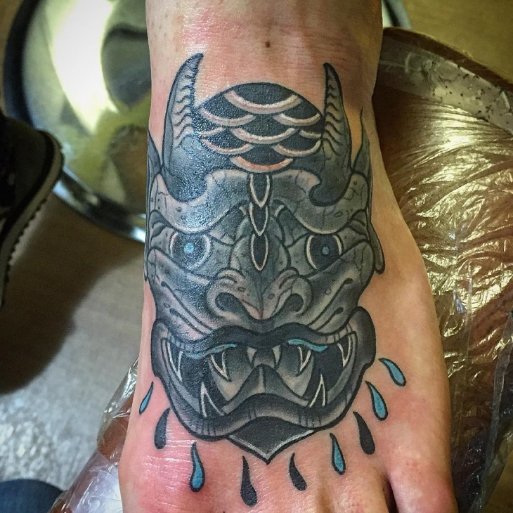 Gargoyle Tattoo on Foot