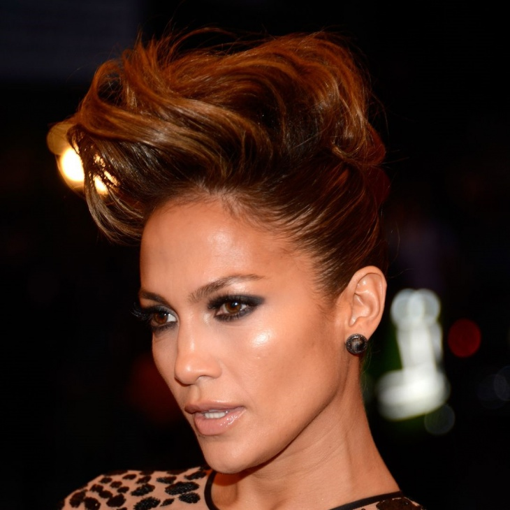 jennifer lopez short grunge hairstyle idea