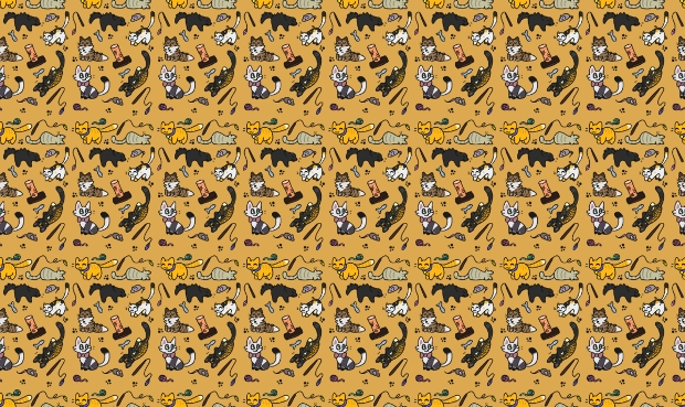 repetitive cat pattern