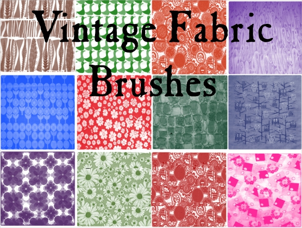 vintage fabric brushes