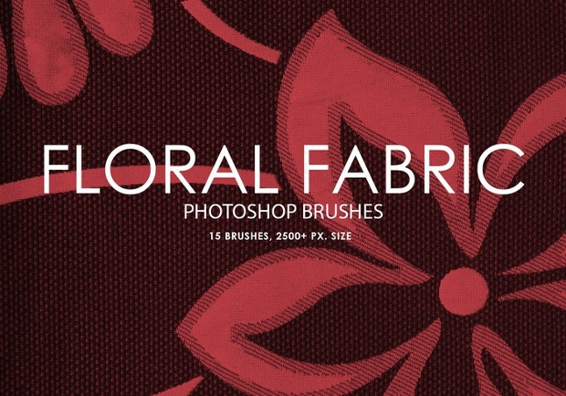 free floral fabric brushes