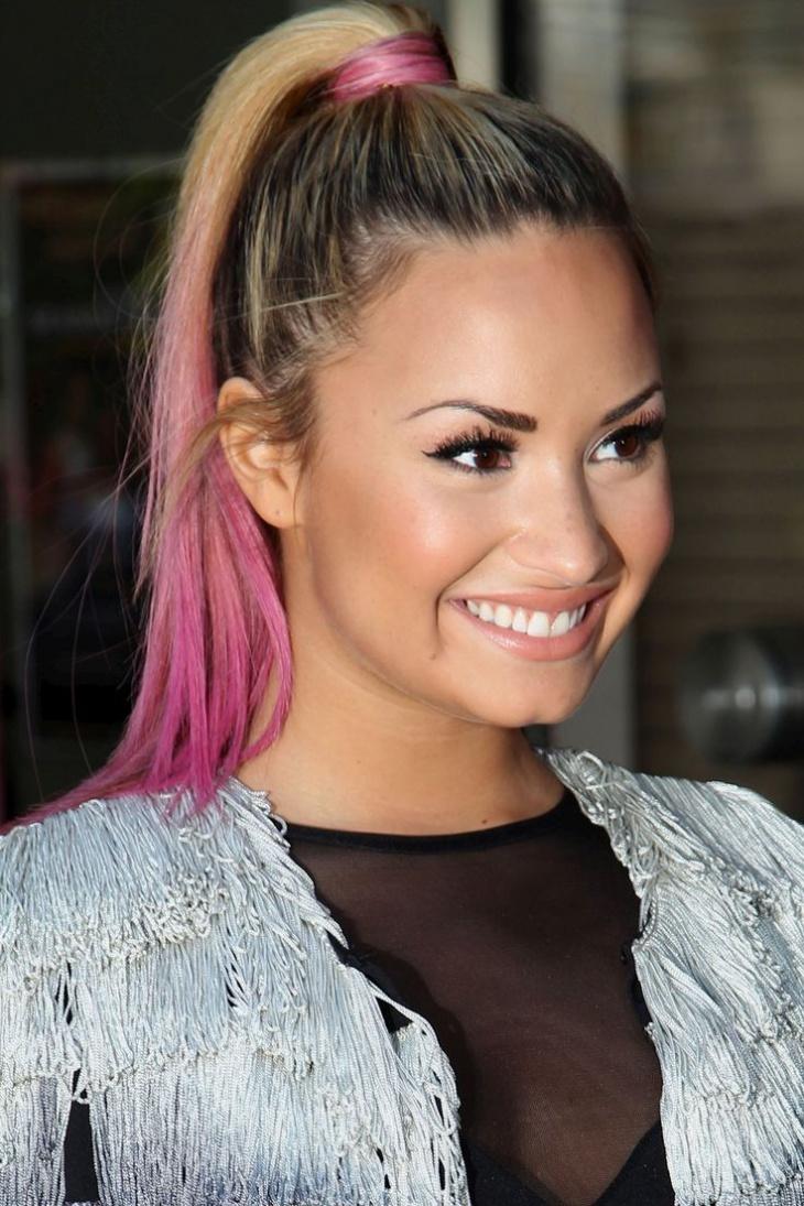 Demi Lovato Grunge Ponytail Idea