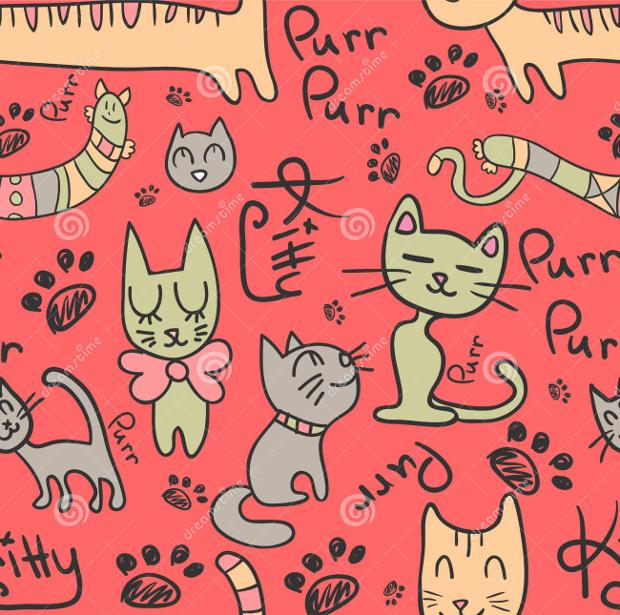 Hand Drawn Cat Patterns
