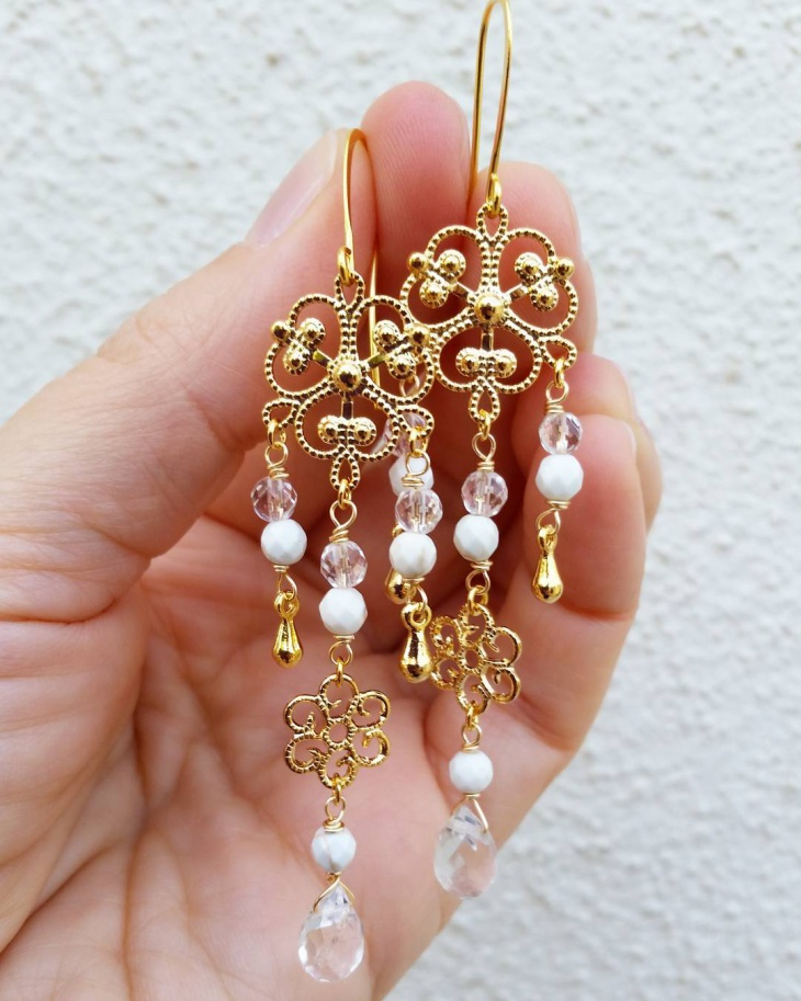 Gold Dangle Earrings Design