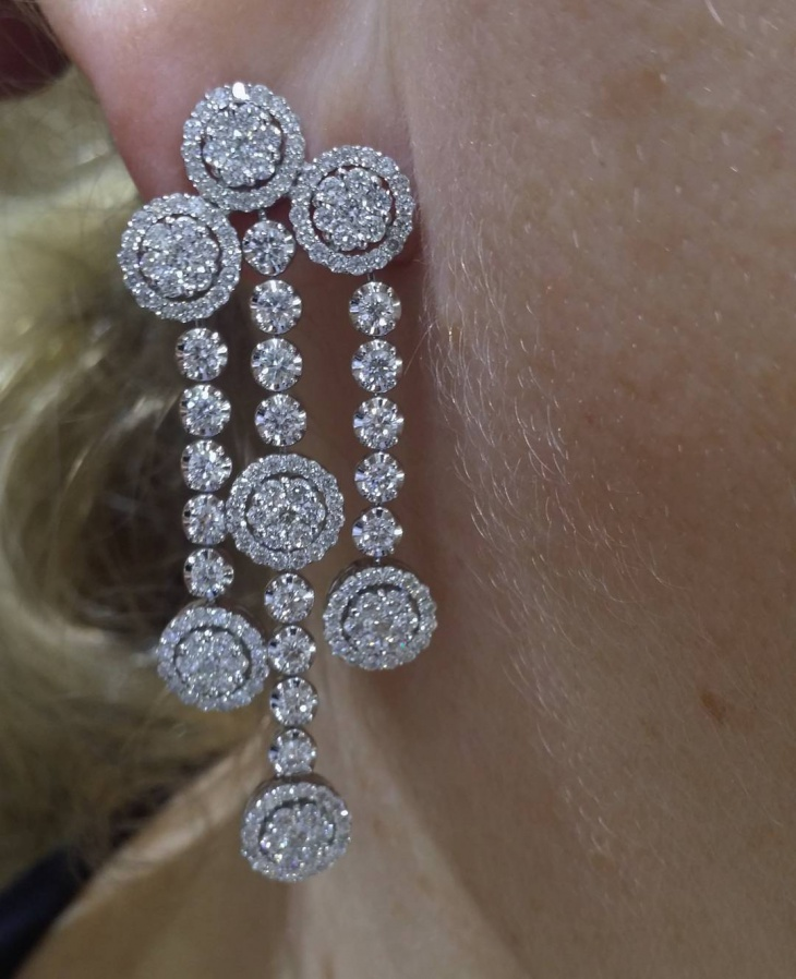 Diamond Dangle Earrings Design