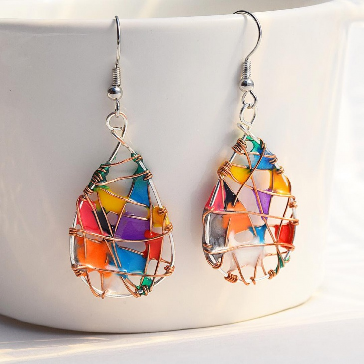 Colorful Handmade Dangle Earrings
