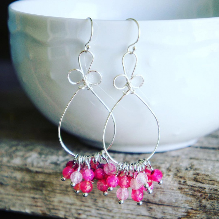 Sterling Silver Dangle Earrings Design