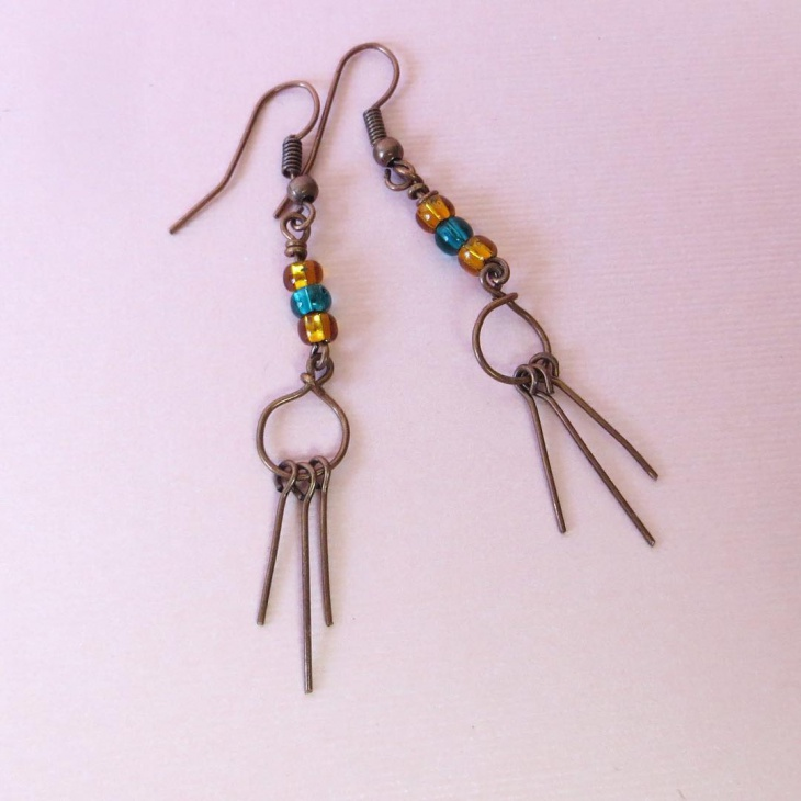 Light Weight Copper Earrings Idea
