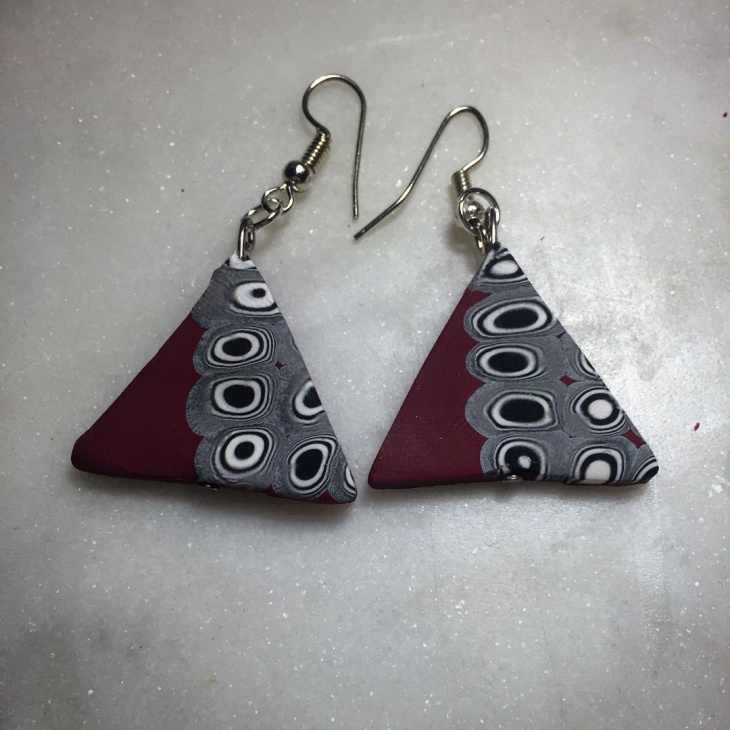 Triangle Shape Dangle Earrings