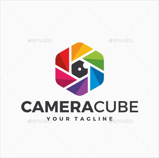 Camera Cube Logo Design