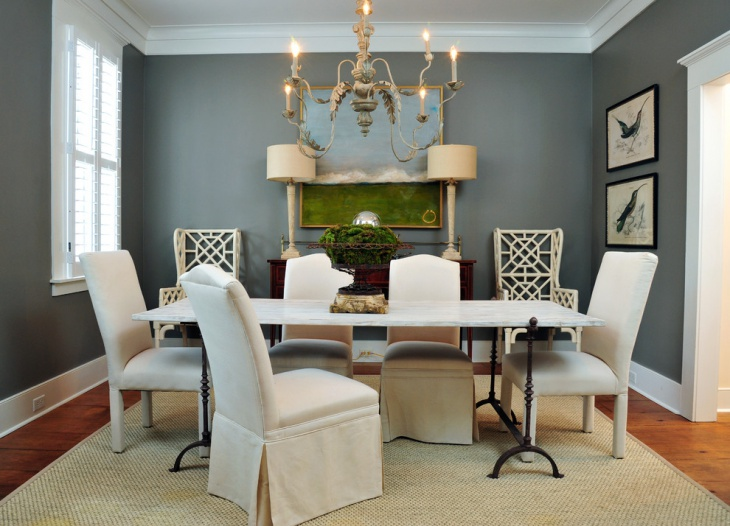 Grey Dining Room Design