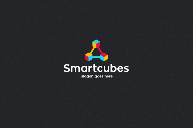 smart cube logo template