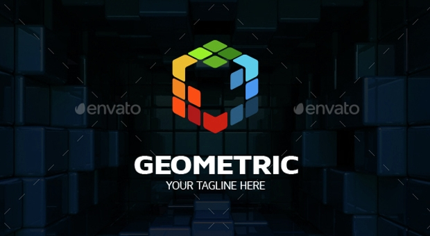 Geometric Cube Logo Design