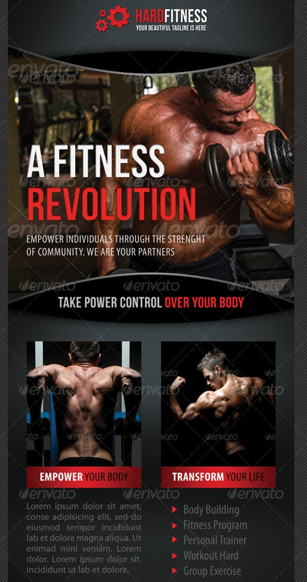 multipurpose fitness banner template