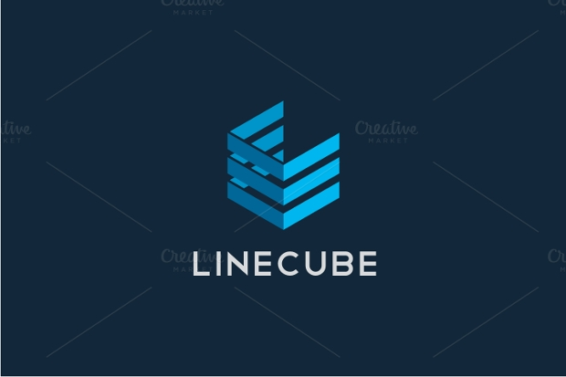 Line Cube Logo Idea