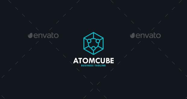 Atom Cube Logo