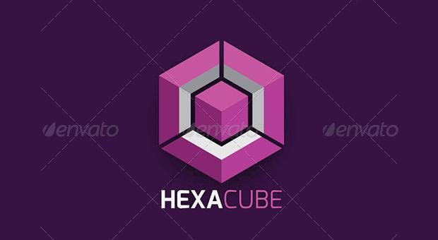Hexagon Cube Logo Template
