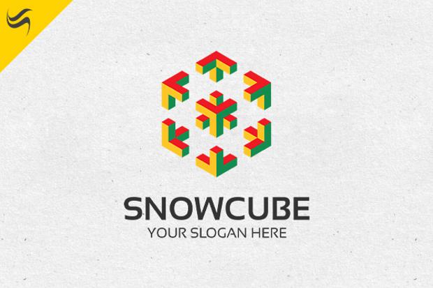 Snow Cube Logo Template Design