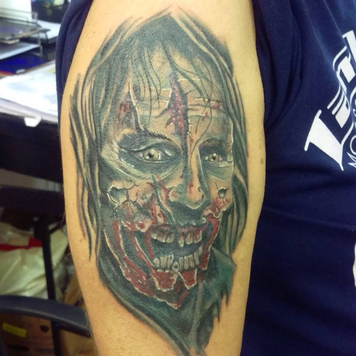 zombie tattoo for men