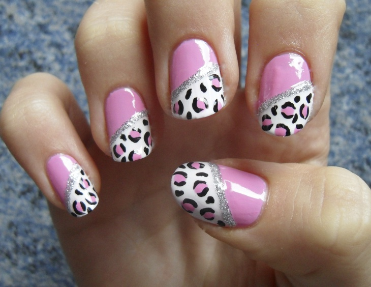 Snow Leopard Nail Art