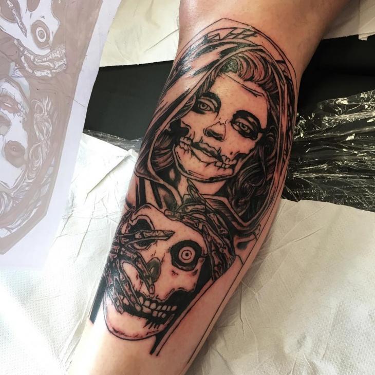 Female Zombie Tattoo