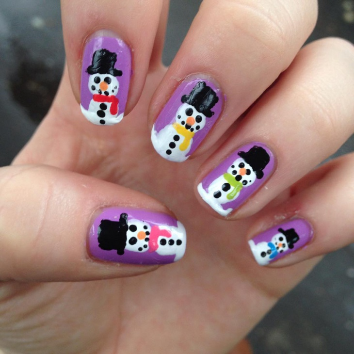 Awesome Snowman Nails