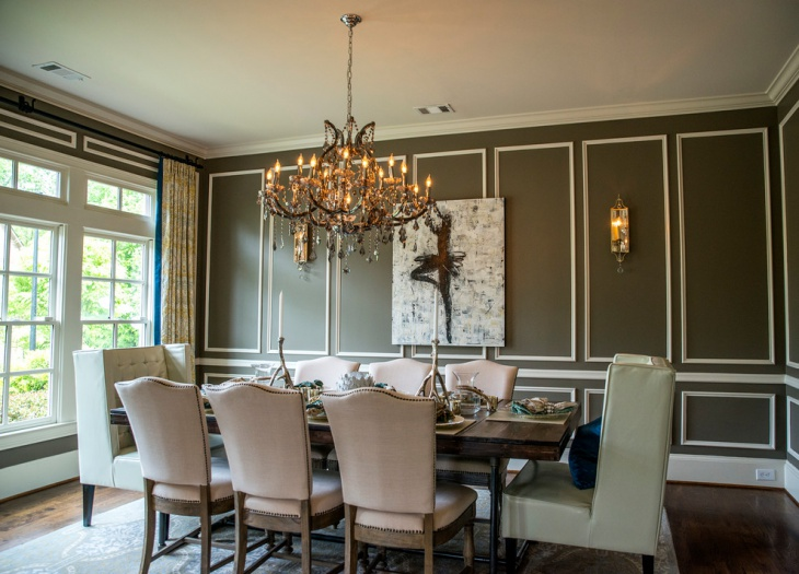 Traditional Dining Room Wall Color Idea