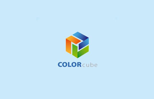 color cube logo design