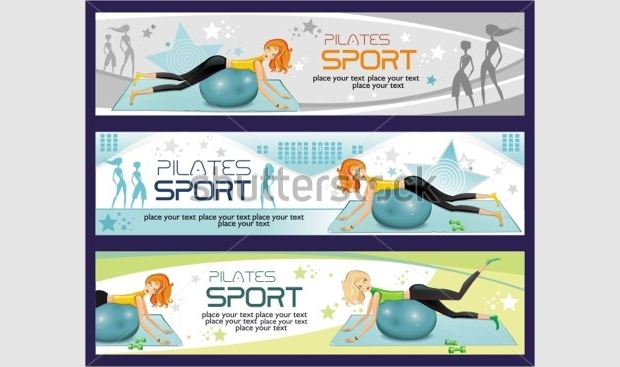 sports fitness gym banner template