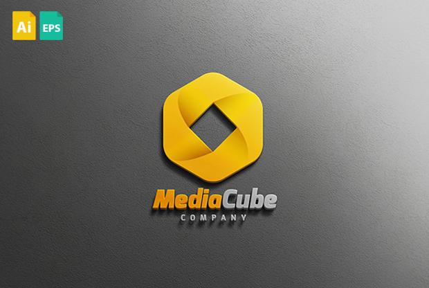 Media Cube Logo Design