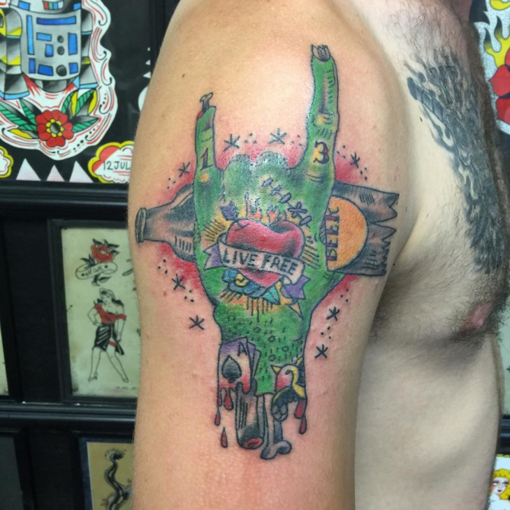 Zombie Arm Tattoo for Men