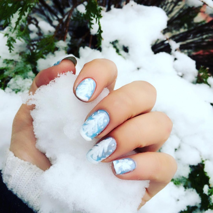 Tip Snow Nail Art