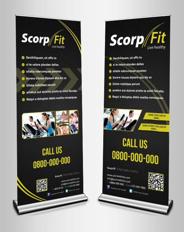 Scorpfit Roll up Banners