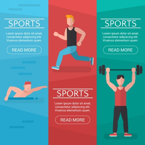 sports and fitness banners