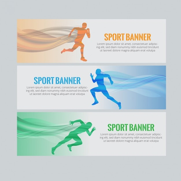 sports and fitness banner vector