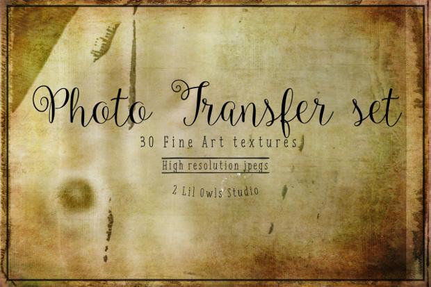 Photo Transfer Fine Art Texture