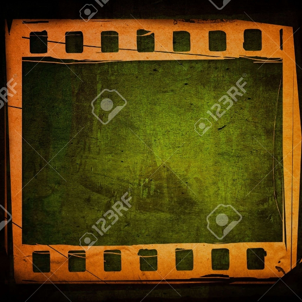 Green Film Strip Texture Design