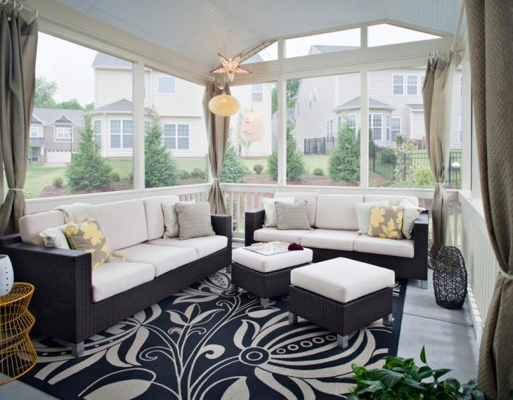 patio sunroom decor idea