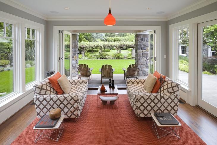 sun room with beautiful flooring carpet