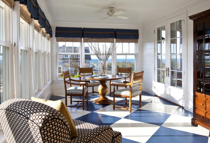 20 modern sunroom designs ideas design trends for Sunroom tile floor ideas