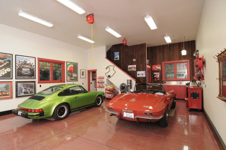 Polished wood Floor Garage