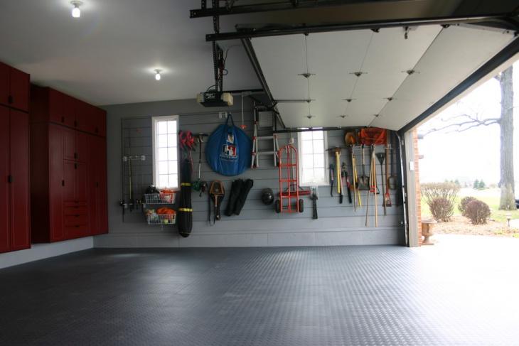 Rubber Matting Garage Cabinets