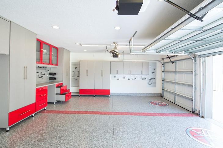 Contemporary Garage Flooring idea