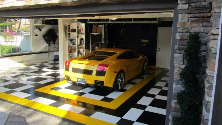 20 Garage Flooring Tiles Designs Ideas Design Trends